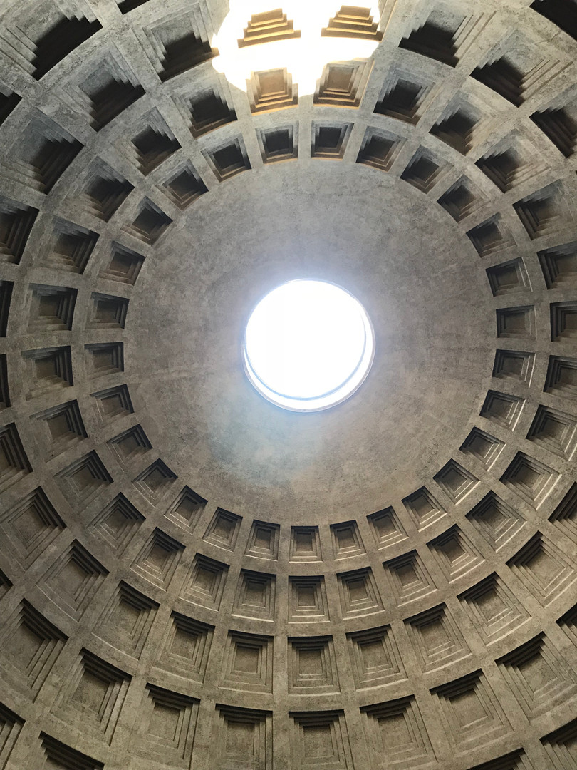 The Pantheon is one of the most well preserved ancient buildings in rome.