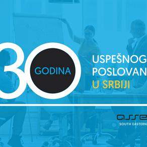 ASSECO SEE OBELEŽAVA 30 GODINA POSLOVANJA U SRBIJI