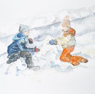 Construire un bonhomme de neige