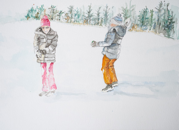 Die Schneeballschlacht