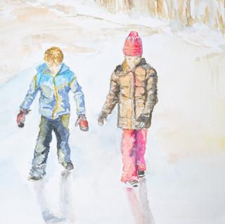 Sur le lac du Starnberg gelé
