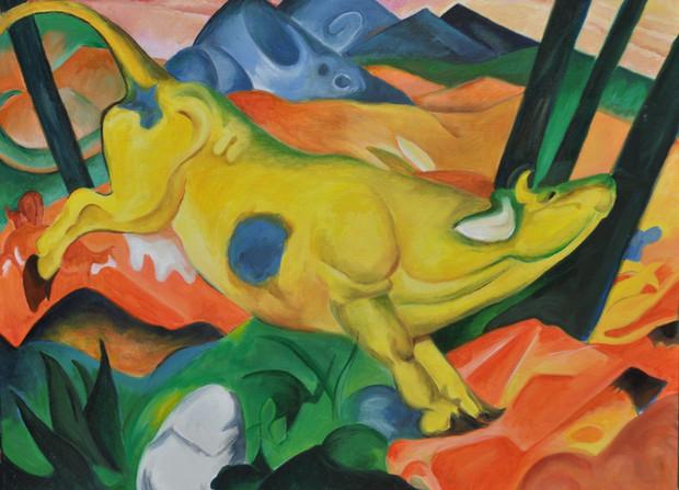 Copie de  Franz Marc - la vache jaune