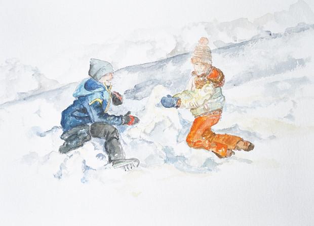 Bonhomme de neige en cours