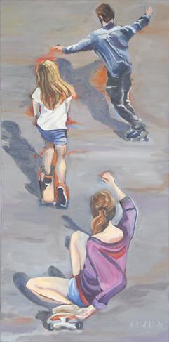 Skate-boarders