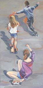 Skate boarders
