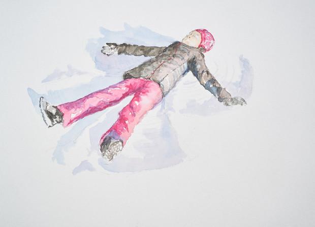 Vol dans la neige