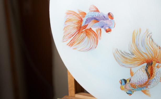 Detail of La ronde des voiles de Chine 3 (The Chinese Goldfisch dance) 320 €