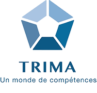 TRIMA Logo (FRANÇAIS - Bleu - 20%) - PNG