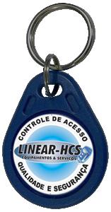 Chaveiro LF 125 KHz Linear Azul