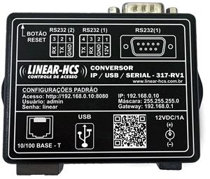 Conversor  IP/ USB / SERIAL - 317-RV1