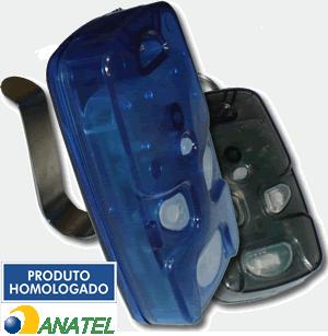 Controle Remoto 4 Teclas - Azul/Fumê