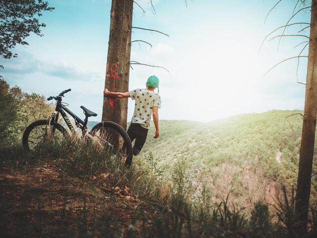 Opale à vélo en liberté