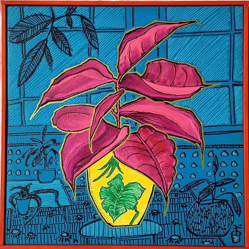 'Blue Lounge' original on canvas