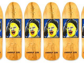'SWSP Skateboarding' Deck graphics..