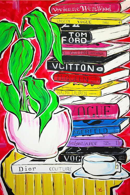 'Viv, Tom, Lou, Al, Ralph, Karl, Yves, Chris', Original painting on canvas