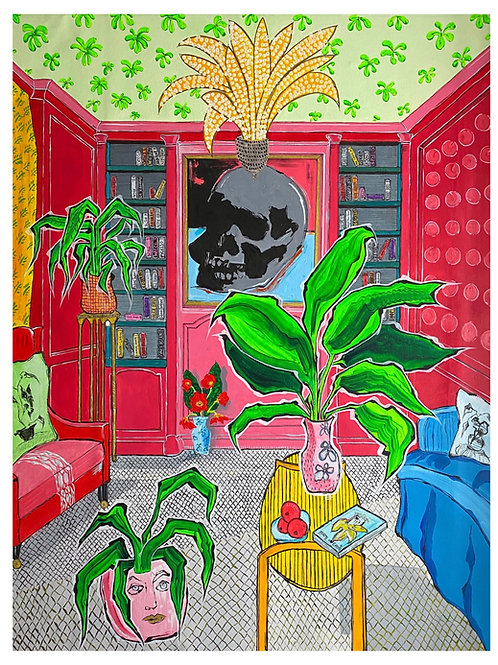 'Rouge Lounge', acrylic on canvas
