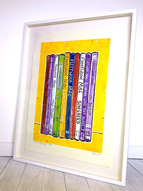 FRAMED ORIGINAL 'You Can Go Your Own Way', painted on Paper, Framed, 75 x 90cm.