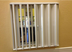 Accordion Shutter With Clear Blades