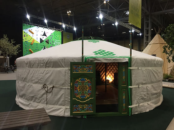 No.5 traditional yurt white canvas cover