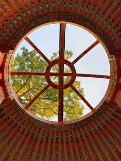 traditionla yurt crown wheel detail