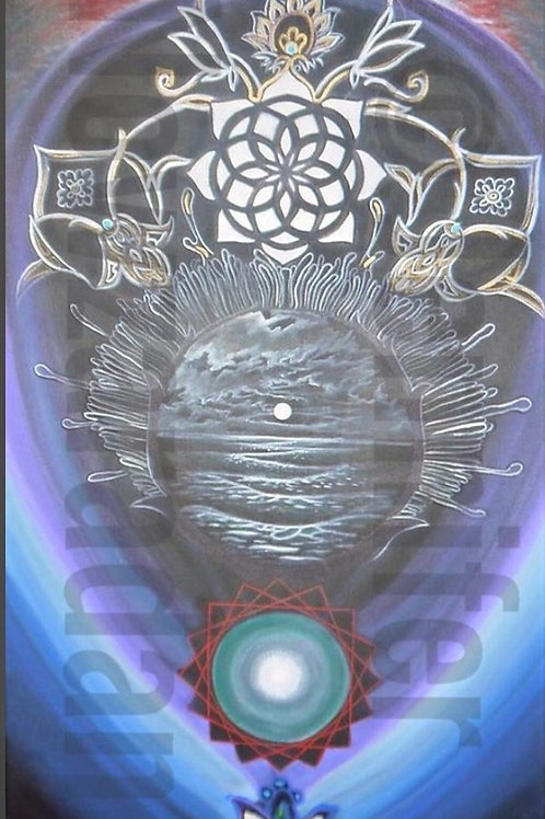 28 x 46 inch Water Totem Series No. 3