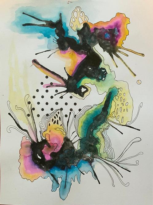 Abstract Watercolor Series No.5