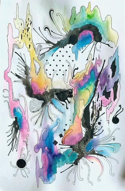 Abstract Watercolor Series No.7