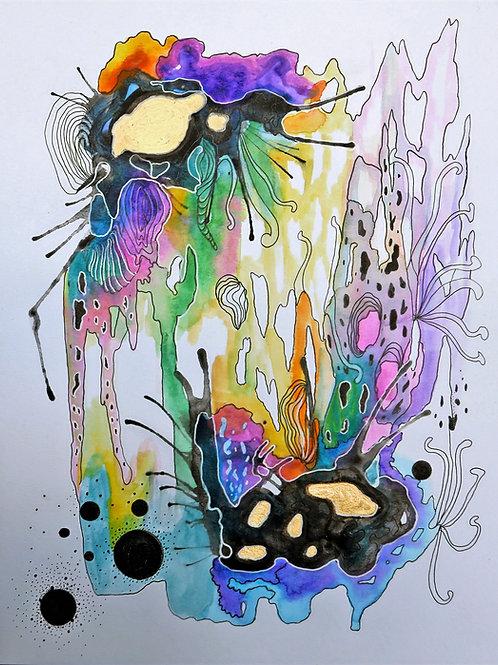 9 x 12 Abstract Watercolor Series No. 20