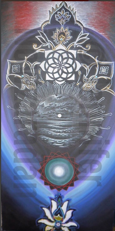 28 x 46 Acrylic Protista Water Totem Series