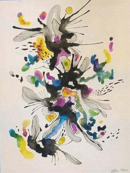 Abstract Watercolor Series No. 1