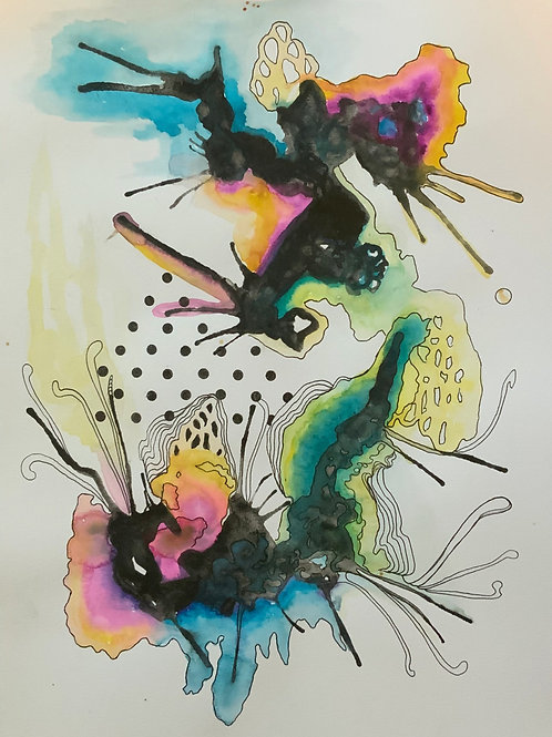9 x 12 Abstract Watercolor Series No.2