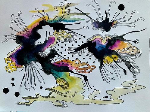 Fluid Watercolor Series No.9