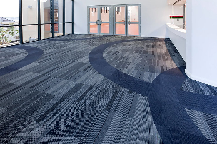 experienced carpet installation services in Singapore, carpet tiles for office and hospital