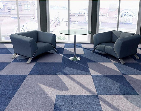 Basic and modern designs of PVC and Bitumen backing carpet tiles, cheap and high quality for commercial uses.
