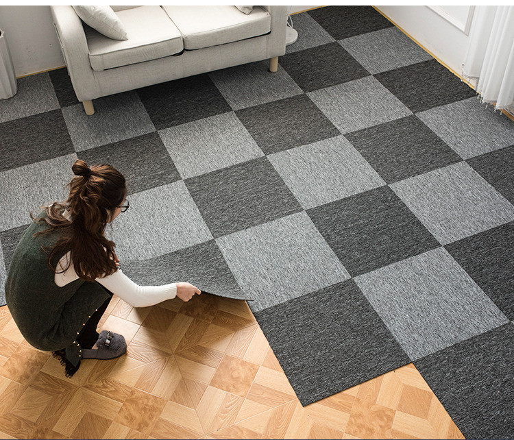 Purchase the carpet tiles stickers from us and you can install the carpets at your own house/office!