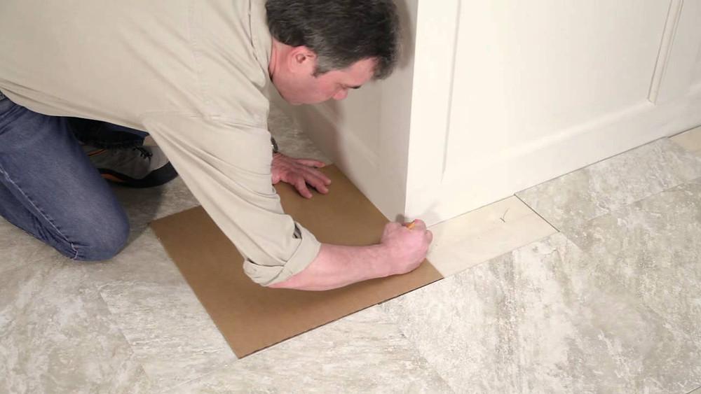 how to lay peel-and-stick vinyl flooring tiles