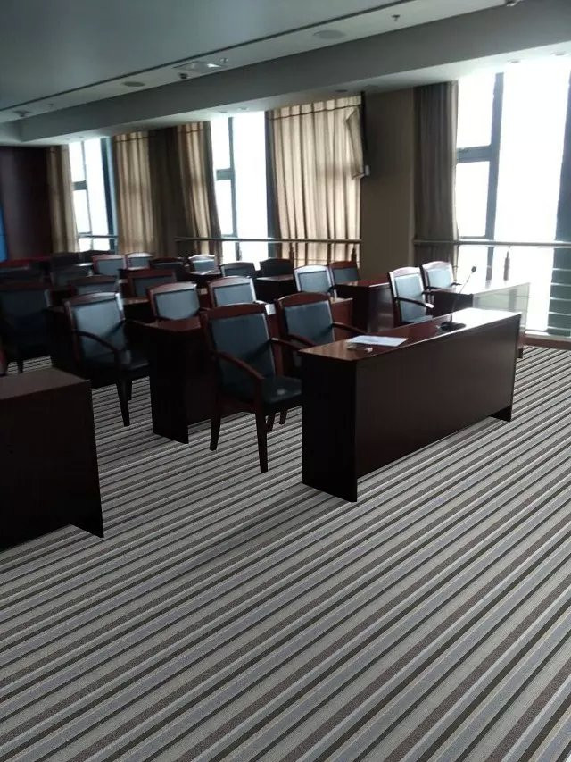 striped and basic carpet rolls, for conference rooms, theatres, cinema, hotels and office