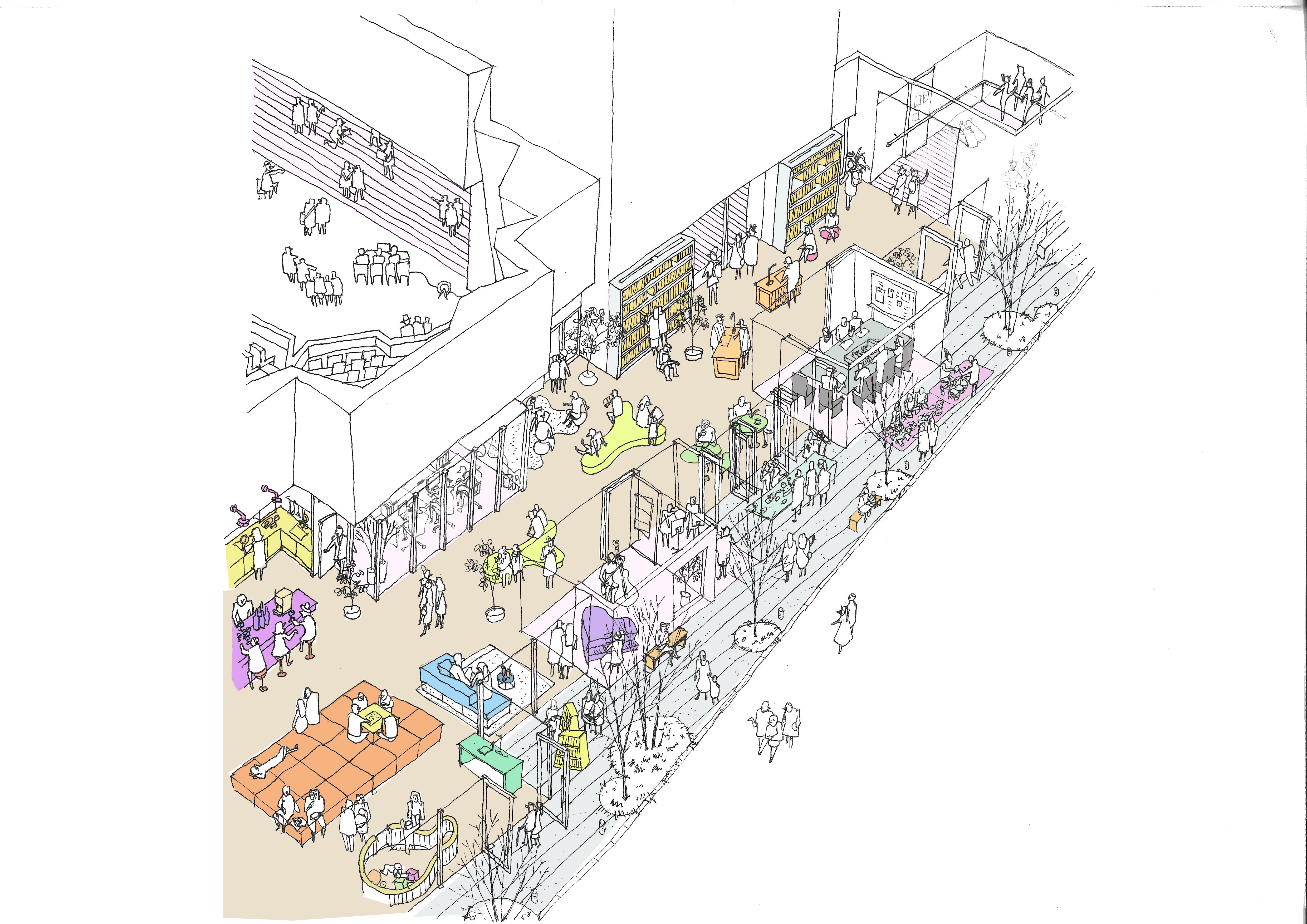釜石インテリアパース  furniture&people2