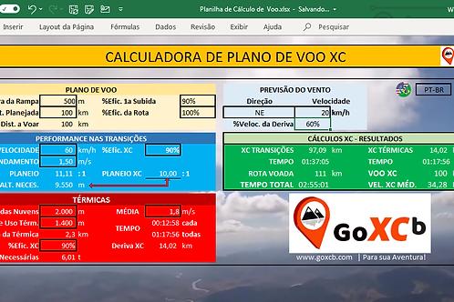 Ferramenta XC - Cálculo da Rota Planejada