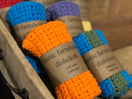 New Colors! + Coupon Code: Rustic Farmhouse Dishcloths for Every Day
