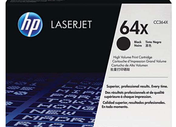 HP 64X High Yield Black Original LaserJet Toner Cartridge, CC364X