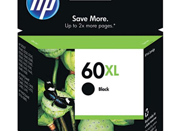 HP 60XL High Yield Black Original Ink Cartridge, CC641WN#140