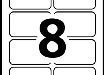 LABELS NAME BADGE 3-3/8x2-1/3 2K/BOX