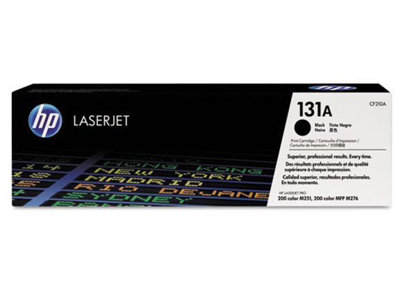 HP 131A Black Original LaserJet Toner Cartridge, CF210A