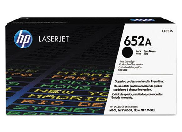 HP 652A Black Original LaserJet Toner Cartridge, CF320A