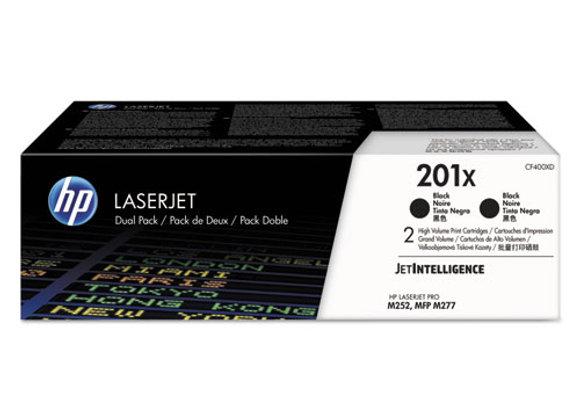 Slide 1 of 11  HP 201X 2-pack High Yield Black Original LaserJet Toner Cartridge