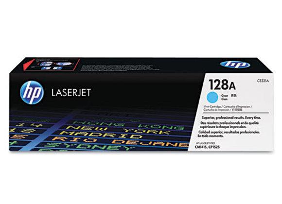 HP 128A Cyan Original LaserJet Toner Cartridge, CE321A
