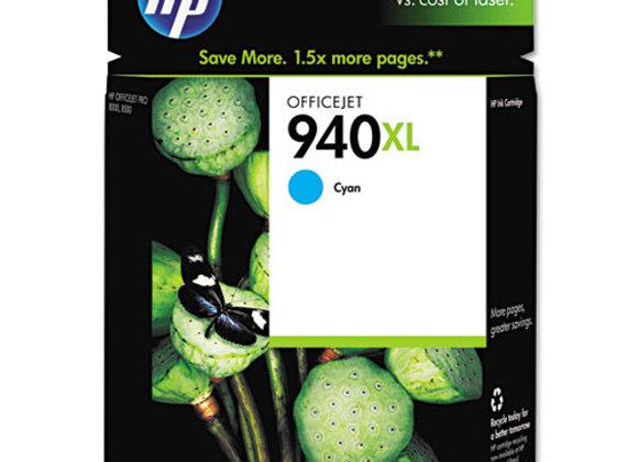 HP 940XL High Yield Cyan Original Ink Cartridge, C4907AN#140