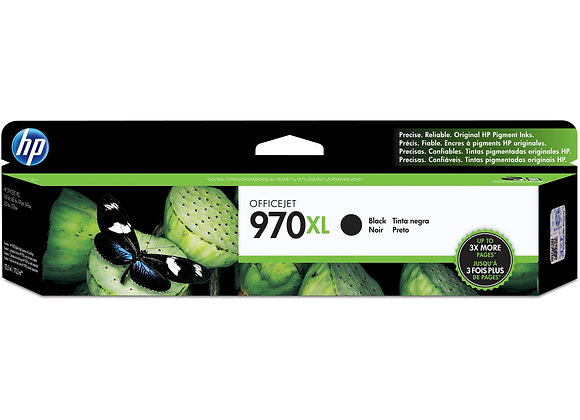 HP 970XL High Yield Black Original Ink Cartridge, CN625AM