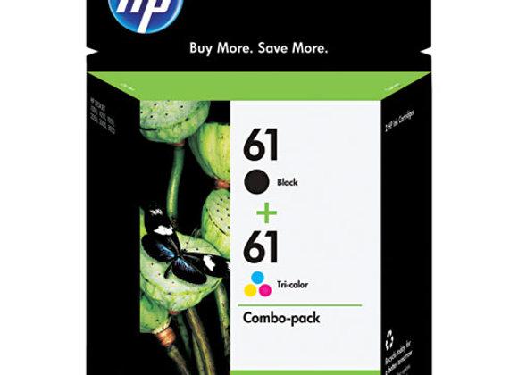 HP 61, (CR259FN) 2-Pack Black/Tri-Color Original Ink Cartridges